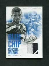2012 Russell Wilson Panini Limited Blue Chip Rookie RC Jersey /25 2 Color