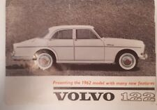 """RARE CANADIAN (TORONTO) """"1962  VOLVO 122"""" SHOWROOM FLYER1 & 4 PAGE FACT SHEET"""