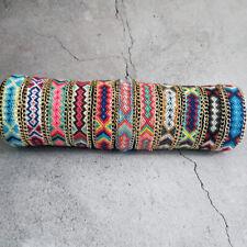 Lot 10 pcs Friendship Bracelets Handmade Macrame Knotted Cotton Woven Wristband