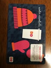 Dunkin Donuts Winter Mittens Christmas  Card  2017 - USA DD  / New Coffee Card