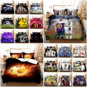 Cristiano Ronaldo Messi Football Bedding Set 2/3PC Duvet Cover & Pillowcase(s)
