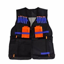Black Water Nerf Tactical Vest Jacket N-Strike Elite Pistol Toys Bullets Holder