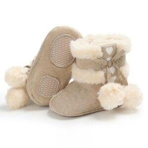 Boots Girls Crib Shoes Baby 0-18M Boots Winter Soft Sole Warm Kids Snow Newborn
