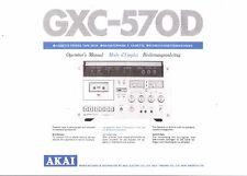 AKAI manuale di istruzioni user manual Owners Manual per GXC - 570 D