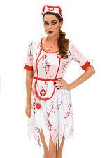 HALLOWEEN COSTUME ZOMBIES OUTFIT BLOOD NURSE WOMAN FANCY DRESS VAMPIRE WITCH