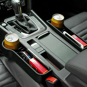 1 Pair Car Seat Gap Catcher Filler Storage Box Bottle Pocket Organizer Holder UK