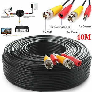 5M-50M BNC DC Power Lead CCTV Security Camera DVR Video Record Extension Cable