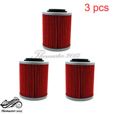 3x Oil Filter Fit CAN-AM DS650X OUTLANDER MAX 400 500 650 800 800R 1000 RENEGADE