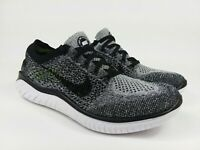 Nike Free RN Flyknit 2018 'Oreo' White/Black Running Shoes Women's Size 7.5 NEW