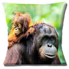 Lindo Orangután Funda de cojín 40.6x40.6cm 40cm Levantamiento Mum FAUNA