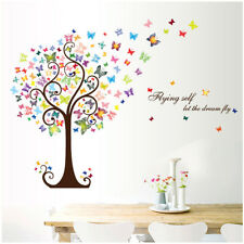 Butterfly Tree Removable Wall Stickers Decal Art Vinyl Mural Home Room Decor DIY