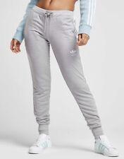 ADIDAS 3 Stripes Pants Gym Yoga Running Fitness Genuine Size 8 & 10 Grey Track