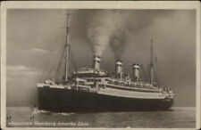 Hamburg Amerika Line Steamship Resolute 1928 Used RPPC Mailed by Passenger
