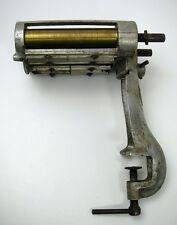 Zell Nudelmaschine alt gebraucht Kurbel fehlt Walzen Messing Tischgerät Sammler