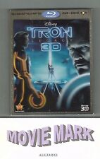 TRON LEGACY 2010 Four-Disc Combo: Blu-ray 3D / Blu-ray / DVD + Digital Copy used