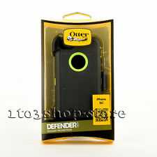 OtterBox Defender iPhone 5c Rugged Hard Case Cover Holster Dark Gray Lime green