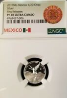 2019 MEXICO SILVER LIBERTAD 1/20 ONZA NGC PF 70 ULTRA CAMEO PERFECTION 1/20 OZ !