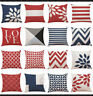 Pillow Latest Throw Cotton Waist Geometric Cover Sofa Cushion Decor Home Case