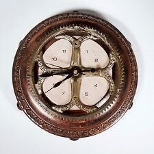 Artistic Reclaimed Salvaged Parts Decorative Table Wall Metal Clock One Of Kind