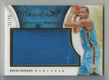 2013-14 Immaculate Kevin Durant Standard Jumbo Game Used Jersey THUNDER #11/75