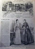 ANCIENNE REVUE LE PETIT ECHO DE LA MODE DE 1889 AVEC GRAVURES RARE N°43