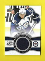 D8445 BLAKE WHEELER 2015/16 UPPER DECK JETS UD GAME JERSEY CARD