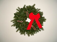 "FRESH  AMERICAN HOLLY/DOUGLAS FIR Christmas Wreath, 24"" Diameter"