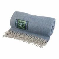 Highland Wool Blend Extra Warm Herringbone Design Rugs / Blanket