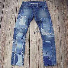 Denim & Supply Patchwork Many Denim Repaired Slim Fit Jeans Rare sz 32 x 32