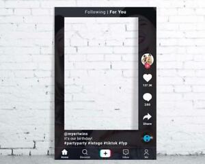 Tik Tok Selfie Frame Personalised Party Birthday Occasion 6mm Corex Board