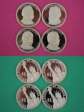 Set of 4 2012-S Proof Presidential Dollars Ultra Deep Cameo Flat Rate Shipping