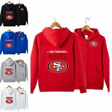 San Francisco 49ers Sports Hoodies Zip-up Sweatshirt Hooded Coat Jacket Fan Gift