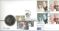 1997 coin cover; Queen Golden Wedding Royal Mint £5 Five Pounds; PNC; free UK pp