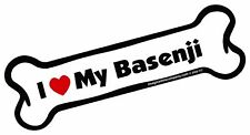Imagine This Bone Car Magnet, I Love My Basenji, 2-Inch by 7-Inch