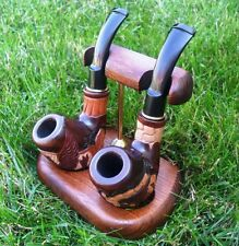 Display Stand Rack Hold Arch 2 for Wooden pipe Tobacco Smoking craft HAND MADE
