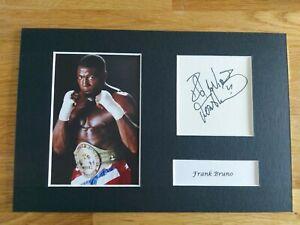 Frank Bruno Signed 12x8 Boxing Presentation, Champion *COA*