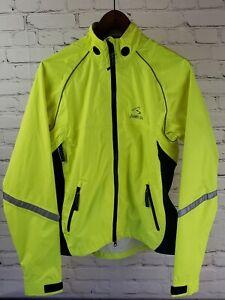 Showers pass jacket Yellow Womens Medium Cycling Waterproof Reflective rain gear