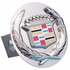 """Cadillac Chrome Stainless Steel 1.25"""" Trailer Tow Hitch Plug Cover"""