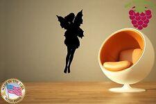 Wall Stickers Vinyl Decal Nursery Fairy Beautiful Girl Kids Children ig996