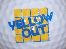 (1) YELLOW OUT        LOGO GOLF BALL