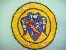 VIETNAM WAR  PATCH, US NAVY DESTROYER  USS. PHILIP DD 498  GET AT THE SOURCE