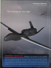 2/2006 PUB NORTHROP GRUMMAN UAV DRONE GLOBAL HAWK US AIR FORCE ORIGINAL AD