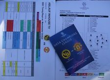 Schedule, off. Programme & Line-ups Ucl 2018/19 Yb Bern vs Manchester United