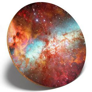 1 x Nebula Space Star Galaxy - Round Coaster Kitchen Student Kids Gift #15523