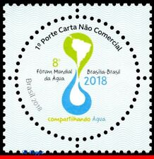 18-01 BRAZIL 2018 8th WORLD WATER FORUM, ROUND STAMP, MAPS, SHARING WATER, MNH