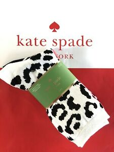 KATE SPADE Crew Socks 3 pairs One Size Black White Coral New in Packaage