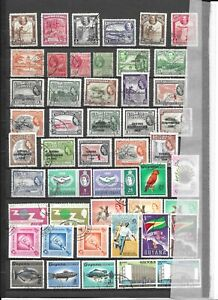 British Guiana GVth to QE2 used collection
