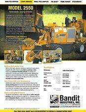 Equipment Data Sheet Bandit 2550 Stump Grinder 2015 Brochure E6590