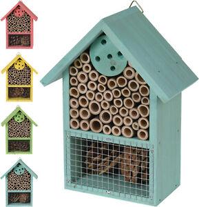 Wooden Insect Hotel House Ladybird Bee Box Fly Hibernation Bug Nesting Shelter