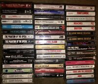 LOT OF 59 MOVIE SOUNDTRACK & CAST RECORDINGS CASSETTE TAPES 6 ARE NEW & SEALED